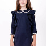 Платье для девочек рост 116-140 синий