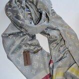 Палантин шарф женский двусторонний Louis Vuitton Луи Витон.