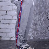 Штаны серые с лампасами Champion унисекс