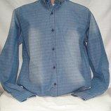 Рубашка мужская PIERRINI джинсовая с рисунком M,L,XL,2XL,3XL