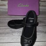 Новые кожаные туфли Clarks Dolly Heart Leather 27, 28 р. супер цена