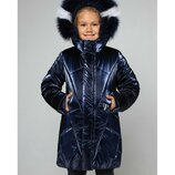 Новинка, зимнее пальто Линда, натуральных мех, 122-164 см.