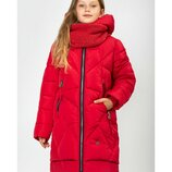 Новинка, зимний комплект пальто и снуд Маша 122-164 см.