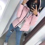 Женская куртка синтепон с капюшоном