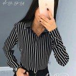 Женская стильная рубашка в полоску