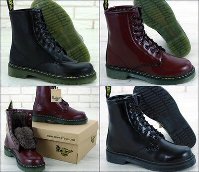 Зимние женские ботинки Dr.Martens Black