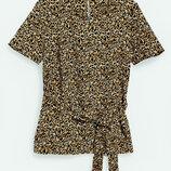 Блуза блузка футболка кофта в леопардовый принт с поясом от Next
