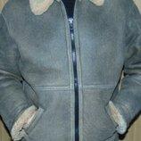 Стильная фирменная курточка зимняя дубленка vero cuoio italy.хл-л .