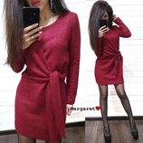 Стильное платье ангора с люрексом М-426