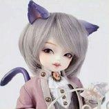 Парик серого цвета серебристый искусственные волосы для куклы аксессуары для кукол