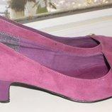 Лиловые замшевые туфли New look Gorgeous оригинал