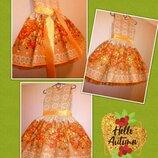 Пышное нарядное детское платье осень рябина