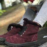 Угги из натуральной кожи, замши на шнурках От производителя Украина