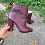 Стильные ботинки из натуральной кожи, замши на толстом каблуке От производителя Украина