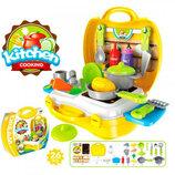 Кухня 8311 плита мойка, посуда, продукты, 26 предметов, в чемодане