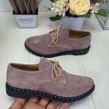 Классические туфли из натуральной кожи или замши 35-41
