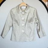 Стильная женская серебристая рубашка в клетку TOK collection Польша
