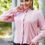 Блузка женская XL Турция,мусс креп розовый персик черный