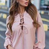 Женская турецкая блуза ткань супер-софт с шнуровкой скл.1 арт.58706