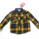 Новая фланелевая рубашка на 12-18 мес