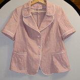 Женская качественная блуза в розово-белую полоску Польша