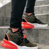 Мужские кроссовки цвета хаки nike air force 270