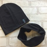 Комплект шапка хомут на мальчика 54 р