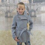 Кашемировое пальто, рост 128, 134, 140, 146, 152 см, арт.ML-014/VD-Лезвие-G