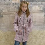 Пальто, рост 128, 134, 140, 146, 152 см, арт.ML-014/VD-Букле-Александра-G