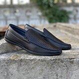 Туфли мокасины с перфорацией стелька 27 см.