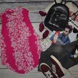 S фирменная женская летняя блуза рубашка безрукавка Hollister Холистер цветы