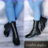 37р Кожа ручная работа Ayuko studio,ботинки милитари,полусапожки