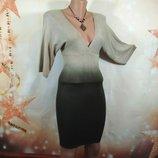 Платье трикотажное с градиентом 42р
