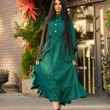 Красивое платье 42 - 46 в горох