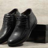 Мужские кожаные ботинки 527 чер