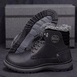 Мужские кожаные ботинки ZG 137 1 черн
