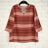 Стильная блуза с геометрическим орнаментом из штапеля Only M новая
