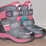 Термоботинки B&G для девочки HL209-811 р. 25-30 термики, термо ботинки биджи термовзуття