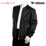 Minimum Дания 100% кожа куртка бомбер пилот демисезон стильная кожаная косуха