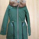 Парка Куртка зимняя с меховой опушкой, от производителя Цвета