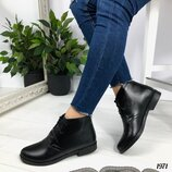 Женские замшевые ботинки на шнурках, натуралка