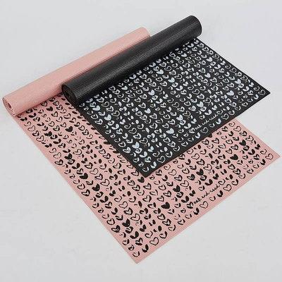 Коврик для фитнеса и йоги двухслойный Cloth 0183 толщина 4мм, размер 1,73х0,61м 2 цвета