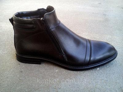 Мужские кожаные зимние ботинки классика 40-45 р-р