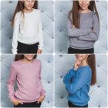 Стильная кофта свитер для девочек 4 цвета