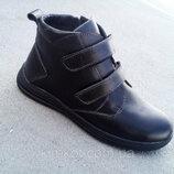 Детские кожаные зимние ботинки от 32 по 39 размер