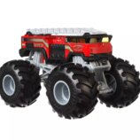 Hot Wheels Monster Jam Внедорожник джип пожарный 1 24 Scale FYJ83 GBV34 5 Alarm Fire Dept Trucks Veh