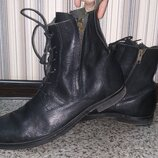 Ботинки мужские topman натуральная кожа. размер 44