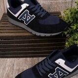 Синие кроссовки на шнуровке