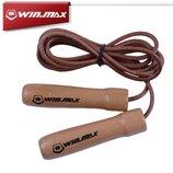 Кожаная скакалка с деревянными ручками Winmax 2,74 м профессиональная