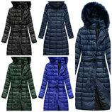Стеганое зимнее пальто женское